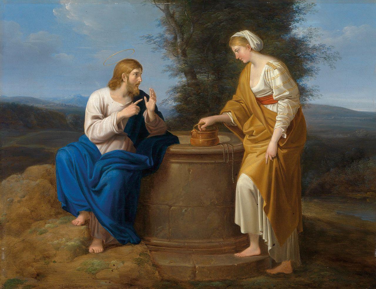 Rencontre entre le Christ et la Samaritaine